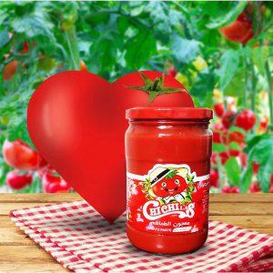 فروشنده رب گوجه شیشه ای 750 گرمی