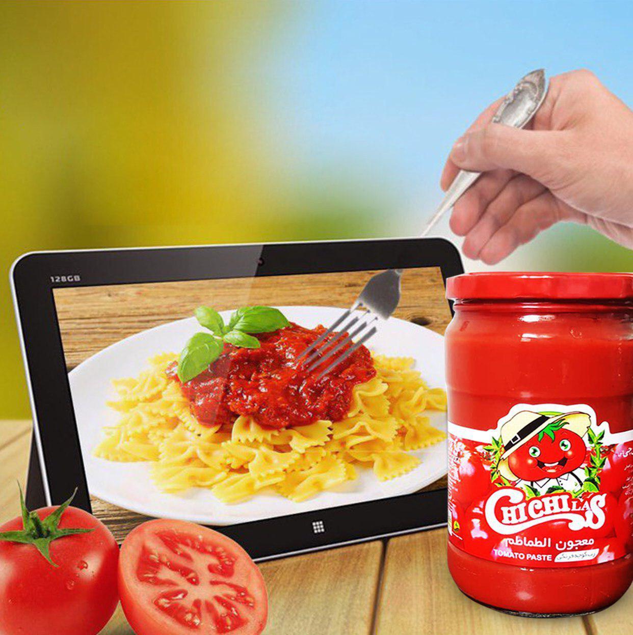 فروشنده رب گوجه شیشه ای