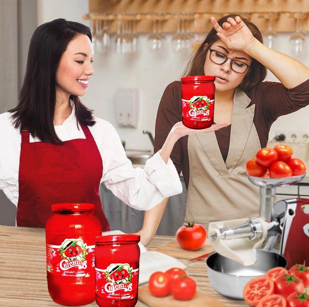 انواع اوزان رب گوجه شیشه ای چی چی لاس