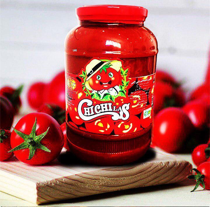 رب گوجه شیشه ای چی چی لاس