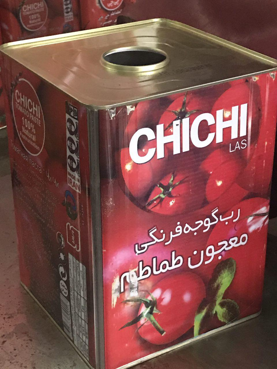 رب گوجه حلبی تولید کارخانه خزر عصاره وارنا